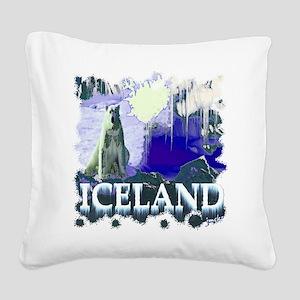 iceland art illustration Square Canvas Pillow