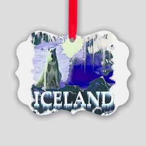 iceland art illustration Picture Ornament
