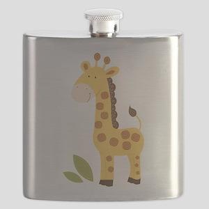 Yellow / Orange Cute Giraffe Flask