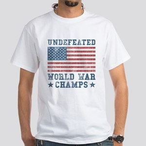 Undefeated World War Champs White T-Shirt