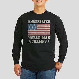 Undefeated World War Cham Long Sleeve Dark T-Shirt