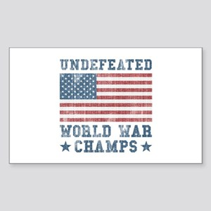 Undefeated World War Champs Sticker (Rectangle)