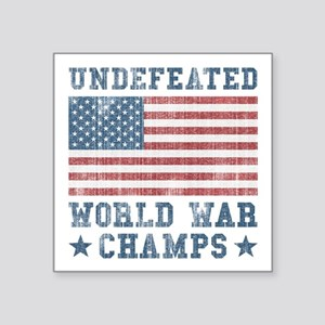 """Undefeated World War Champs Square Sticker 3"""" x 3"""""""