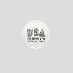 V. USA World War Champs Mini Button