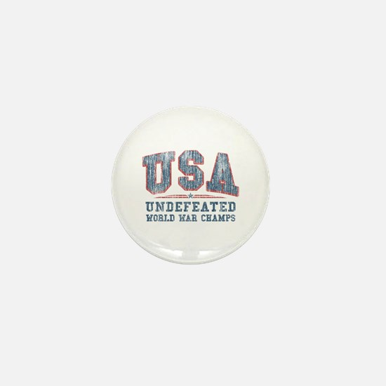 V. USA World War Champs Mini Button