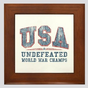 V. USA World War Champs Framed Tile