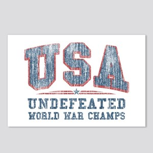 V. USA World War Champs Postcards (Package of 8)