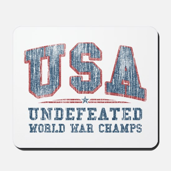 V. USA World War Champs Mousepad