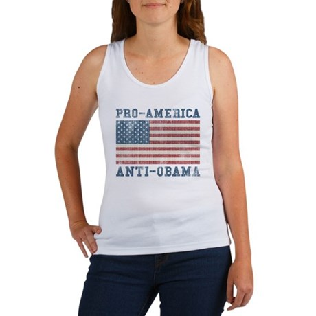 V. Pro-America Anti-Obama Women's Tank Top