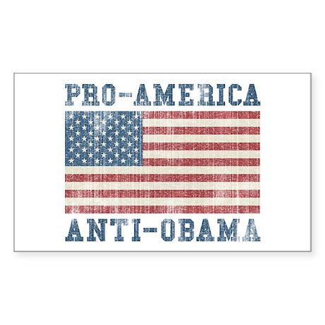 V. Pro-America Anti-Obama Sticker (Rectangle)