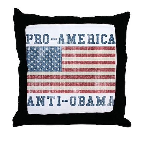 V. Pro-America Anti-Obama Throw Pillow