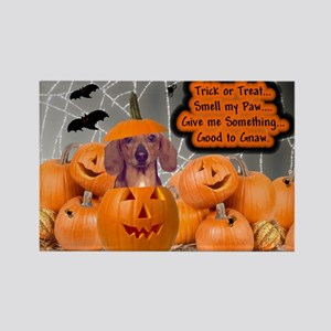 Dachshund Halloween (Red) Rectangle Magnet