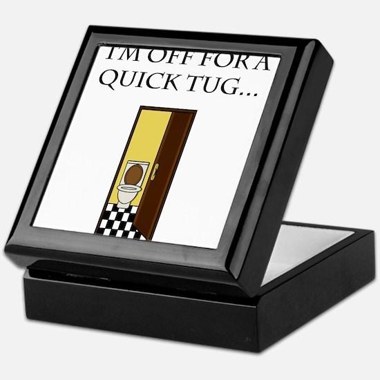 I'm off for a tug Keepsake Box