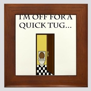 I'm off for a tug Framed Tile