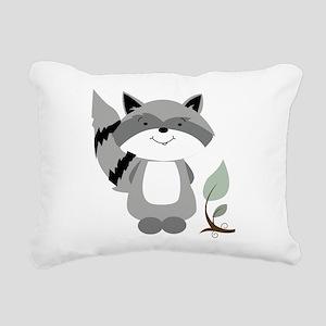 Raccoon Rectangular Canvas Pillow