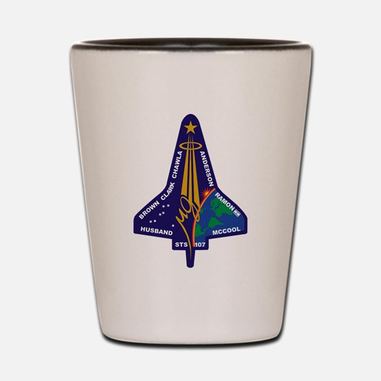 STS 107 Shot Glass