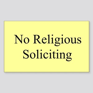 No Religious Soliciting Sticker