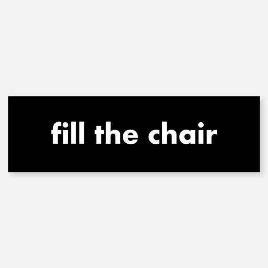 fill the chair white on black Sticker (Bumper)