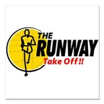 The Runway Square Car Magnet 3