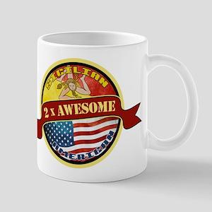 Sicilian American 2 x Awesome Mug