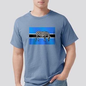 Botswana Zebra Flag Mens Comfort Colors Shirt