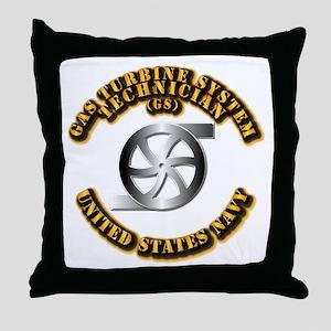 Navy - Rate - GS Throw Pillow