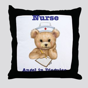 Nurse - Angel in Disguise Throw Pillow
