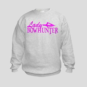 LADY BOWHUNTER Kids Sweatshirt