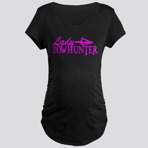 LADY BOWHUNTER Maternity Dark T-Shirt