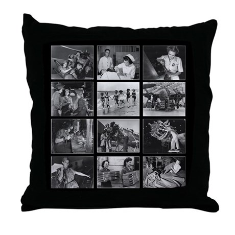 Women of WWII Throw Pillow