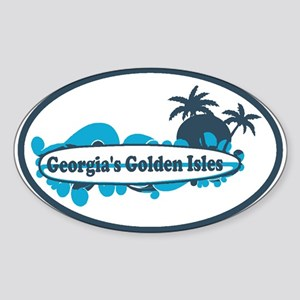 Golden Isles GA - Oval Design. Sticker (Oval)