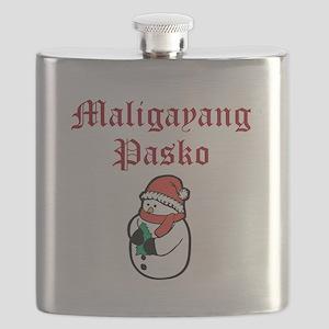 Merry Christmas (Tagalog) Flask