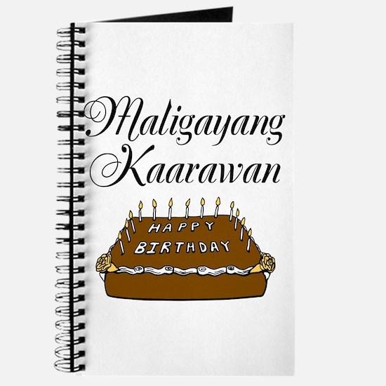 Happy Birthday (Tagalog) Journal