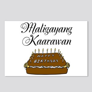 Happy Birthday (Tagalog) Postcards (Package of 8)