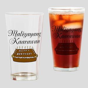 Happy Birthday (Tagalog) Drinking Glass