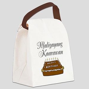 Happy Birthday (Tagalog) Canvas Lunch Bag