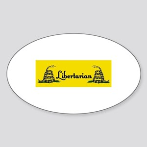 Libertarian Sticker (Oval 10 pk)