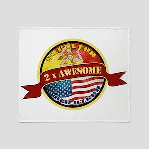 Sicilian American 2 x Awesome Throw Blanket