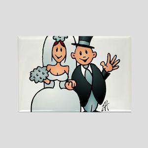 Wonderful wedding Rectangle Magnet