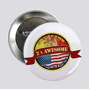 """Sicilian American 2 x Awesome 2.25"""" Button"""
