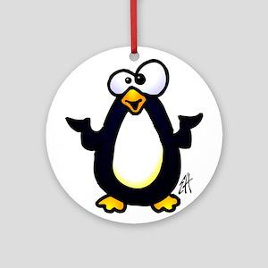 Pondering penguin Ornament (Round)