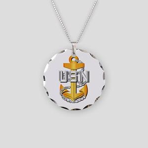 Navy - CPO - CPO Pin Necklace Circle Charm