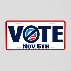 VOTE Nov. 6 Aluminum License Plate