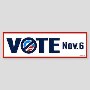 VOTE Nov. 6 Sticker (Bumper)
