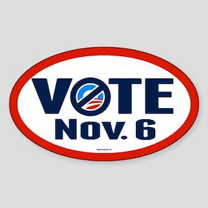 VOTE Nov. 6 Sticker (Oval)