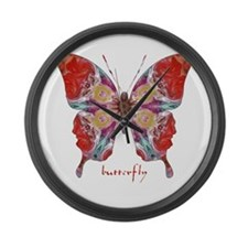 Attraction Butterfly Large Wall Clock