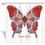 Attraction Butterfly Shower Curtain
