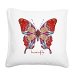 Attraction Butterfly Square Canvas Pillow