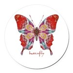 Attraction Butterfly Round Car Magnet