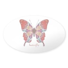 Attraction Butterfly Sticker (Oval)